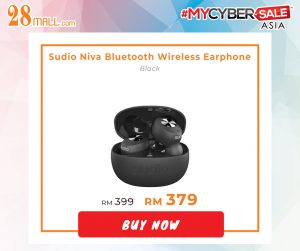 Sudio Niva Bluetooth Wireless Earphone Black