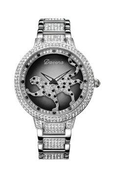 Davena Watch with Leopard Silver 60089