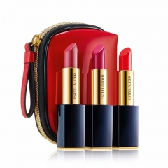 ESTEE LAUDER 3 Pure Color Lipsticks w/Pouch 3x3.5g