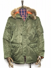The Quilted Jacket B Green S