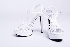 Model High Heel shoes White 6 inches – platform shoes for women White 5