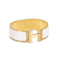 HERMES Pop-H Bracelet Bangle - White