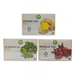 Malaysia Tea Set - Roselle, Ginger Moringa