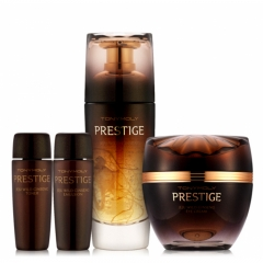 Tony Moly Prestige 24K Gold Wild Ginseng Essence 50ml Set - Free Eye Cream, Toner, Emulsion