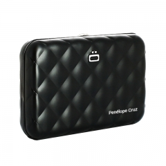 ÖGON RFID Safe Black Quilted Aluminium Wallet
