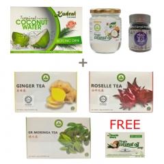 Health Tea and Coconut Snacks Gift Set