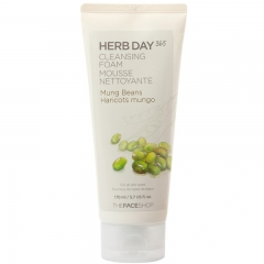 The Face Shop HERB DAY 365 Mung Beans Cleansing Foam 170ml