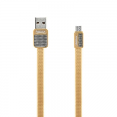 Remax Metal Cable For Android Micro USB RC-044m Yellow