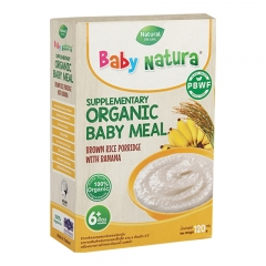 Baby Natura Organic Brown Rice Porridge - Banana