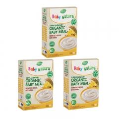 Baby Natura Organic Brown Rice Porridge - Banana 3 Packs