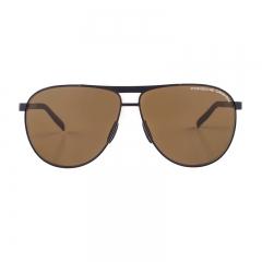 Porsche Design Male Brown Aviator P8642A Sunglasses