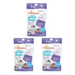 Happy Baby - Organic Greek Yogis Blueberry Purple Carrot 3 packs