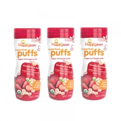HappyBaby - Happy Puffs Strawberry & Beet 3 packs