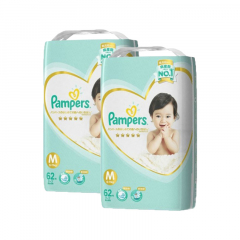 Pampers Ichiban Taped Medium 52's 2 Packs Msia