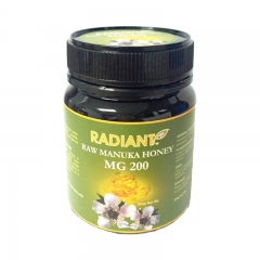 Radiant Raw Manuka Honey MG 200 Natural 340G