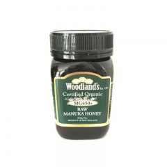 Woodland's Organic Active Manuka Honey MG 450 500G