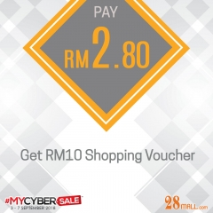 Gift Voucher RM10.80 at 90% Off