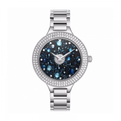Davena Certified Swarovski Crystals Watch Silver 61231