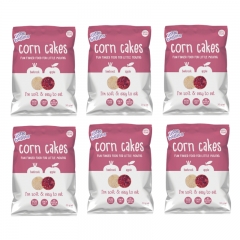 little bellies Corn Cakes Beetroot & Apple 6 Packs