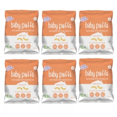 little bellies Baby Puffs Baked Yummy Carrot 6 packs