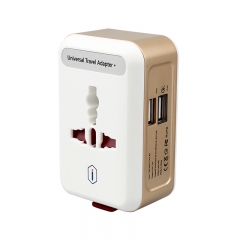 Wiwu Travel International Travel Adaptor with Dual USB Charging Ports