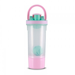 Remax Lotton  Sports Water Bottle with Powder Container & Ball Shaker 750ml