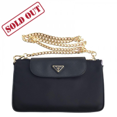 Prada Tessuto Saffian Lady Bag Dark Blue Prada Bag - 1BH085