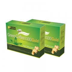 Leptin Green Coffee 1000 Gold (with Ginger) Weight Loss Coffee  x 2 Boxes (18 Sachets/box)
