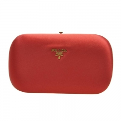 PRADA BP0494_AC4_F068Z Cloth Red Clutch Prada Bag