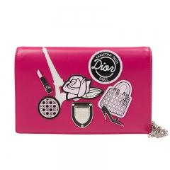 Christian DIOR S0328_PNDA_929 Cowhide Pink Dior Leather Shoulder bag
