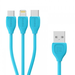 Remax LESU Series Data Cable 3 in 1 RC-050th Blue