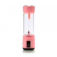 Remax Wireless Rechargeable Portable Food Processor and Juicer Pink