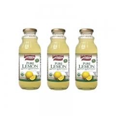 Lakewood Organic Pure Lemon 12.5oz 3 bottles 12.5 OZ
