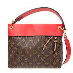 LOUIS VUITTON Handbag M43798 Leather Brown/Red