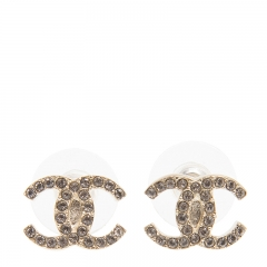 NEW CHANEL A58532 Metal Gold Earrings