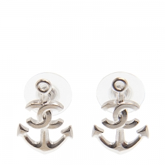 NEW CHANEL A58531 Metal Silver Earrings