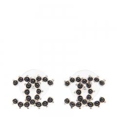NEW CHANEL A58090 Metal Black Earrings