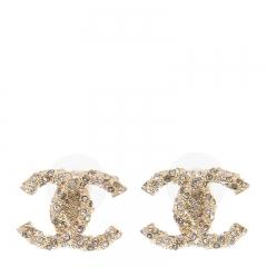 NEW CHANEL A58507 Metal Gold Earrings