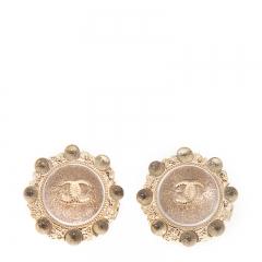 NEW CHANEL A45699 Metal Gold Earrings