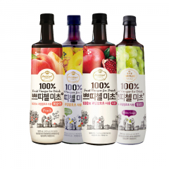 Korea CJ Petitzel Fruit Vinegar multi flavour x 4 Lemon & Citron