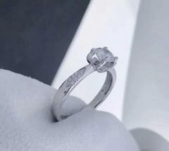 18K Gold Diamond Ring GIA Cert Color D Clarity VS2 0.5 Carat 11.11