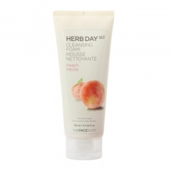 The Face Shop HERB DAY 365 Peach Cleansing Foam 170ml