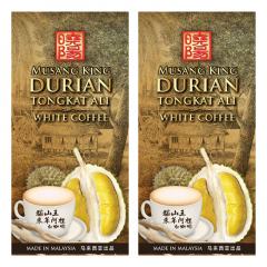 Musang King Durian Tongkat Ali White Coffee 30g x10's x 2